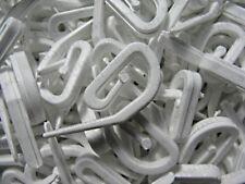 Curtain Hooks 1000 For Curtain Rings & Header Tape White Plastic Nylon NEW