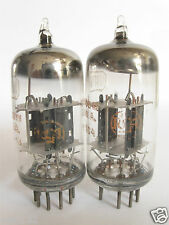 PAIR +/-1962 RCA 12AT7WA=6201 tubes - Black Plates, Copper Grids, Top O Getter