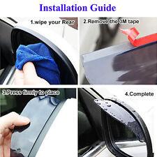2x Universal Rear View Side Mirror Rain Snow Shield Visor for Car Truck Bluelans