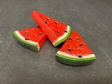 Play Food Watermelon Slices Pretend Plastic Kitchen Toys Lot of 3