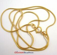 "20"" 14k gold filled 1mm Snake chain necklace with spring clasp made in USA 1/20"