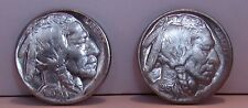 2 MAGIC COINS HEADS & TAILS 1913 / 1937 INDIAN AND BUFFALO NICKEL - TRICK