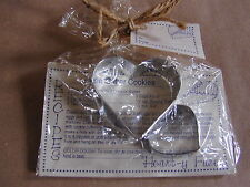 2pc Heart Shape Set Tin Cookie Cutters & Recipes by Off the Beaten Path EC