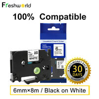 5Pk TZe-231 431 531 631 731 12mm Compatible with Brother P-Touch  Label Tape
