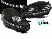 Coppia di Fari Anteriori LED DRL Inside per FIAT PUNTO EVO 2009-2012 Neri IT LPF