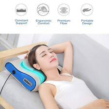 Electric Heat Massage Pillow Kneading shiatsu Massager Neck Shoulder Pain Relief