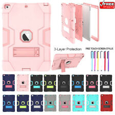 For iPad Air Mini Pro Shockproof Heavy Duty Silicone With Hard Stand Case Cover