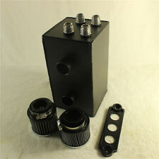 Pro Series Oil Catch Can FIT For Honda Civic Acura Integra 4 Port 10AN NEW Black