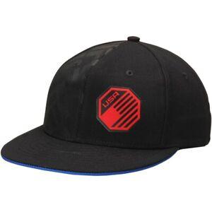 Reebok UFC Black USA Authentic Fighter's FVF Flex Hat Cap Small/Medium Black