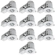 LED Recessed Lighting Light Trim Kit Remodel Housing Dimmable White 10-Pack