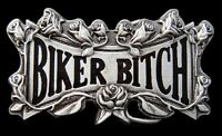 Biker Bitch Cool Motorcycle Roses Flower Belt Buckle Boucle De Ceinture