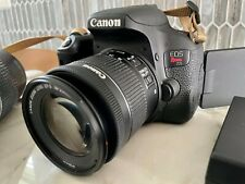 MINT Canon T7i EOS Rebel DSLR Camera 18-55mm  and  75-300mm Lenses(2 LENSES) 64G