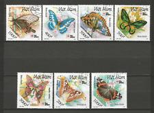 1991 papillon Vietnam Y&T N°1250 à 1256 série 7 timbres oblitérés /T4352