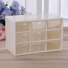 9 Grid Desktop Storage Box Drawer Jewelry Organizer Holder Cabinet Container BU