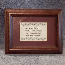 "Framed Art Matted Picture - Grandchildren Sentiment 9"" x 7"" GIFT"