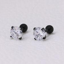2PCS Simulated Diamod Screw Back Earring Made With Swarovski Crystal Jewelry