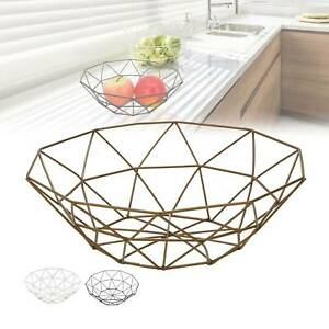 Iron Art Wire Fruit Bowl Basket Kitchen Dining Table Decoration Stand Storage