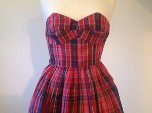 Jack Wills Girls/Ladies Pink Tartan Dress UK Size 6
