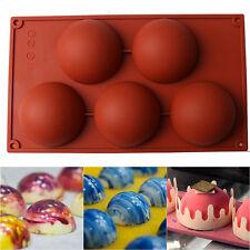 5- Half Ball Silicone Cupcake Mold Muffin Chocolate Cake Baking Mould Pan Tools
