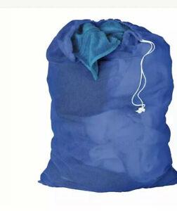 HONEY-CAN-DO Laundry Bag, Blue, LBG-01161, Blue