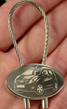 Chevrolet Spark Schlüsselanhänger Fotogravur Keyring Gravur