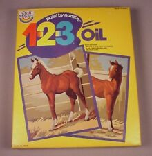 Vintage Paint by Number kit Horses Pony Horse MIB NOS 1980 Craft Masters MISB