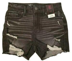 No Boundaries High Rise Black Jean Denim Shorts Size 1 3 7 11 13 15 17 19 21 NEW