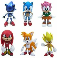 Sonic the Hedgehog Tails Cake Topper Toy Set 6 Figure Birthday Gift Playset Doll
