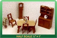 Dining Room Dollhouse Furniture Kit - 1/24 Scale by Greenleaf Dollhouses