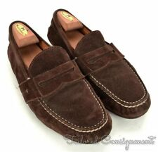 RALPH LAUREN Solid Brown Suede Mens Loafer Dress Shoes - 9.5