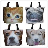 Ladies Women's Girls Animal Dog/Cat Fashion Tote Shoulder Shopper Handbag
