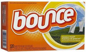 Bounce Outdoor Fresh Fabric Softener Dryer Sheets 120 count box