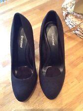 Graceland Size 36 black High heel Court shoes- New