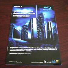 Catalogo Sony blu ray disc depliant brochure tv dvd hd home cinema entertainment