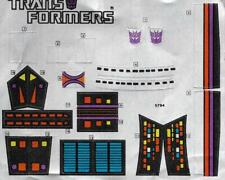 Transformers Original G1 1986 Galvatron Unused Sticker Sheet