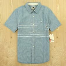 NEW w/tags nwt VANS short sleeve tailored fit shirt SMALL striped colorblock