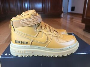 Nike Air Force 1 Gore-tex Boots Flax Wheat CT2815 200 Men's Size 8