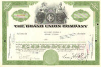 Grand Union Company > 1950s 1960s Tops Friendly stock certificate