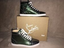 Christian Louboutin Bip Bip Orlato Flat Python Sneakers Sz 39