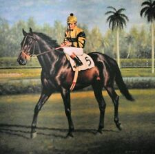 Richard Stone Reeves signed print Seattle Slew signed Jean Cruguet. 408/500