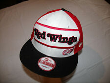 Detroit Red Wings Spelled Out White/Red/Black Hat New Era 9Fifty Snapback