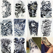 10 Sheets Temporary Tattoos Body Arm Tattoo Sticker Long Sleeve Fake Waterproof