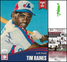 TIM RAINES AUTOGRAPHED SIGNED 8X10 HALL OF FAME HOF PHOTO PICTURE EXPOS JSA COA