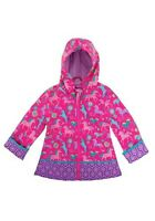 Child Kids Toddler Girls Horse All Over Print Raincoat Size 3T 4T 4/5