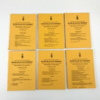 Royal Swedish Academy of War Sciences Proceedings & Journal Books 1991 Set of 6