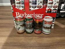 2020 Budweiser Christmas Holidays Cans Bottom Opened Limited Edition Rare