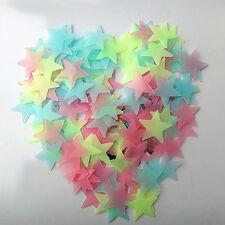 400pcs 3D Stars Glow In The Dark Luminous Fluorescent Wall Stickers Kids Bedroom