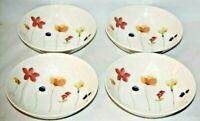 Royal Stafford Spring Multi-Color Floral Porcelain Soup Bowls Set of Four New