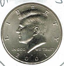 2001-D Brilliant Uncirculated Copper-Nickel Clad Copper Strike Half Dollar Coin!