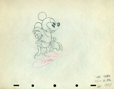 Mickey Mouse & Minnie Mouse Brave Little Tailor 1938 Disney cel Drawing 2 sheets